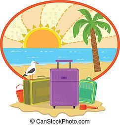 vakantie, pictogram