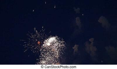 vakantie, vuurwerk, geluid
