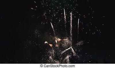 vakantie, vuurwerk, viering