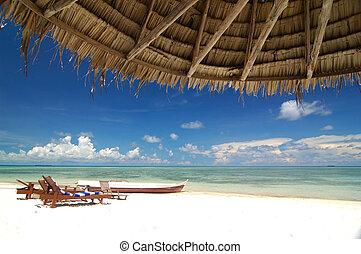vakantiepark, strand, tropische