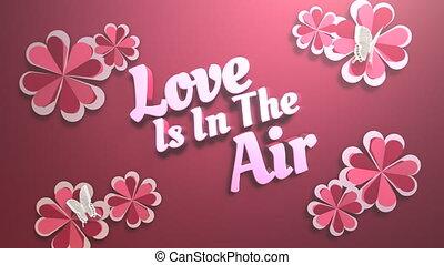 valentijn, tekst, hart, closeup, geanimeerd, glanzend, dag, liefde, motie, romantische, achtergrond, lucht