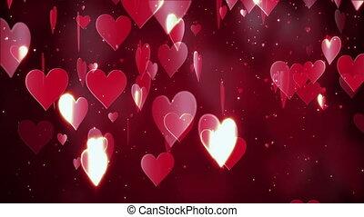 valentine, achtergrond, abstract, dag