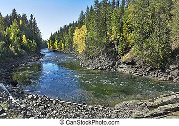 vasten, berg, river.