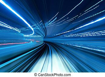 vasten, verhuizing, tunnel, trein