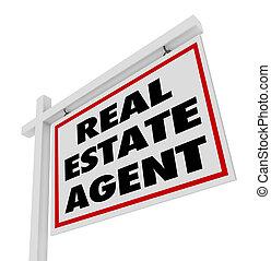 vastgoed, agentschap, agent, meldingsbord, reclame