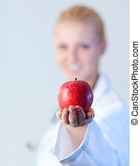 vasthouden, brandpunt, appel, arts