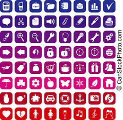 vector, 64, verzameling, iconen