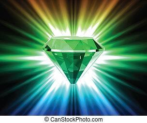 vector, achtergrond., helder, diamant, kleurrijke