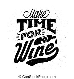 vector, achtergrond., negen, lettering, witte , wijn., wijntje, style., illustratie, werkende , ouderwetse , quote., handdrawn