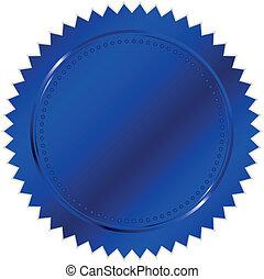 vector, blauwe , zeehondje, illustratie
