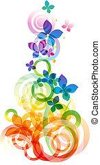 vector, bloemen, achtergrond