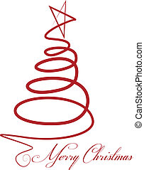 vector, boompje, kerstmis