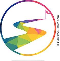 vector, design., succes, weg, logo