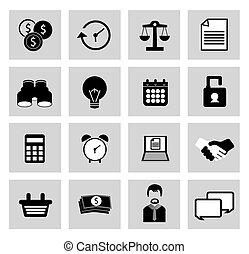 vector, diversen, iconen