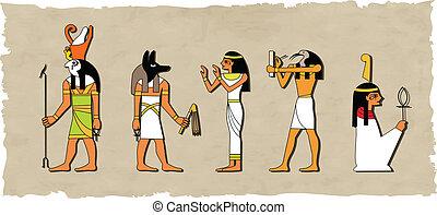 vector, god, set, egyptisch