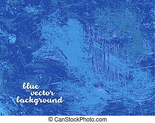 vector, grunge, blauwe achtergrond