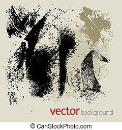 vector, grunge, set, 2, communie