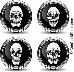 vector, illustration., schedel, pictogram