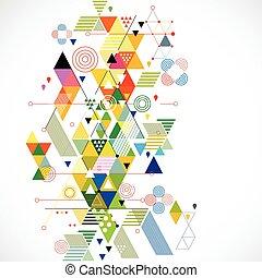 vector, kleurrijke, abstract, illustratie, creatief, achtergrond, geometrisch