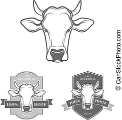vector, koe, etiket