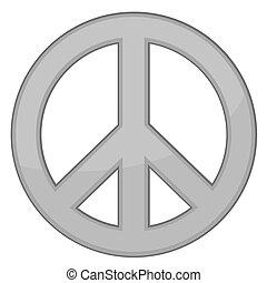 vector, meldingsbord, vrede, /, zilver