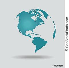 vector, moderne, globe., illustration.