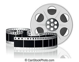 vector, movie., illustration., film, verdraaid