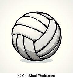 vector, ontwerp, volleyball bal, pictogram