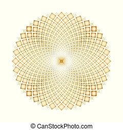 vector, optisch, achtergrond, cycli, spinnen, illusie