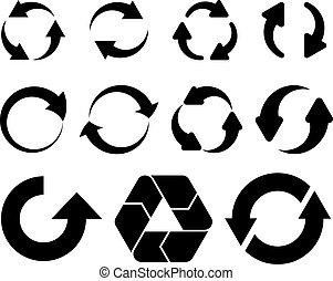 vector, pijl, circulaire