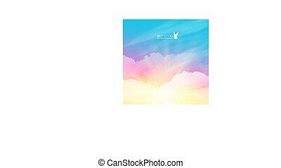 vector, realistisch, plein, pink-blue, achtergrond