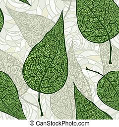 vector, vellen, groene, seamless, ouderwetse