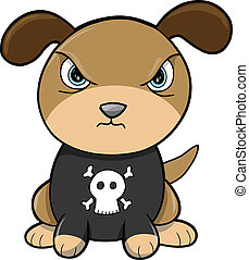 vector, volhardend, puppy, dier, dog