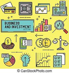 vector, zakelijk, investering