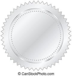 vector, zilver, illustratie, zeehondje