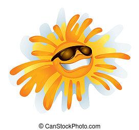 vector, zonnig, :)