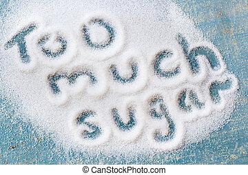 veel, suiker