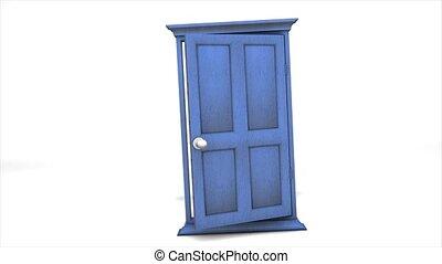 veelvoudig, deur open