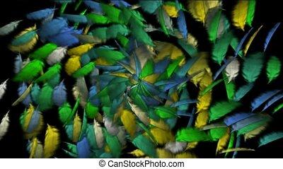 veer, kleur, def, omwenteling, vliegen, achtergrond