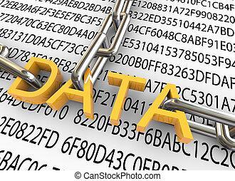 veiligheid, concept, data, 3d