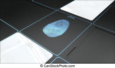 veiligheid, identificatie, scanderen