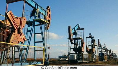 velen, olie pompt op, werkende , roeien