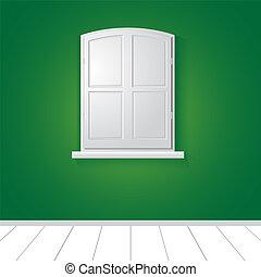 venster., vector, illustratie