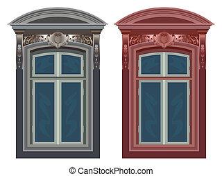 vensters, witte , tegen