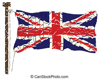 verbond vlag, grunge, dommekracht