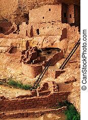 verde, liggen, beeld, ruïnes, -, mesa