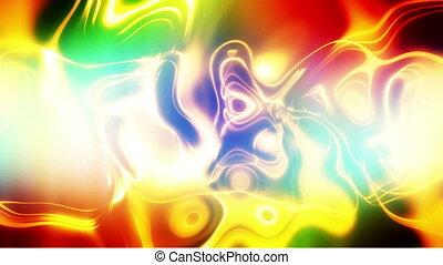 verdraaid, kleuren, looping, abstract