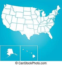verenigd, -, illustratie, staten, rhode, staat, amerika, islan