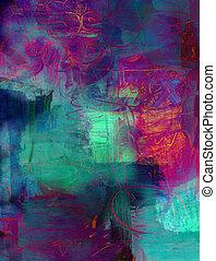verf , abstract, acryl, achtergrond