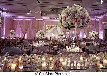 verfraaide, beautifully, danszaal, trouwfeest